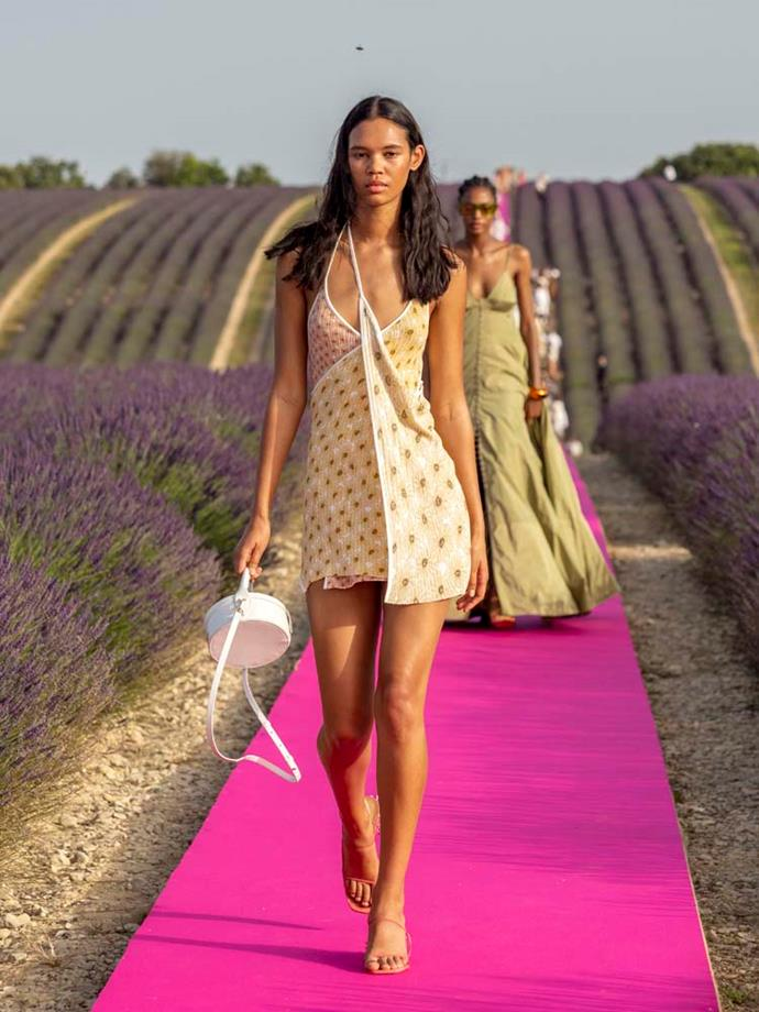 "***Jacquemus***<br><br> ""Let's not exclude this one because it wasn't on the fashion month circuit. The show location of the lavender field added to the sensory experience of this immaculate colour palette show. This is how I want to look this summer holidays."" Caroline Tran, fashion editor."