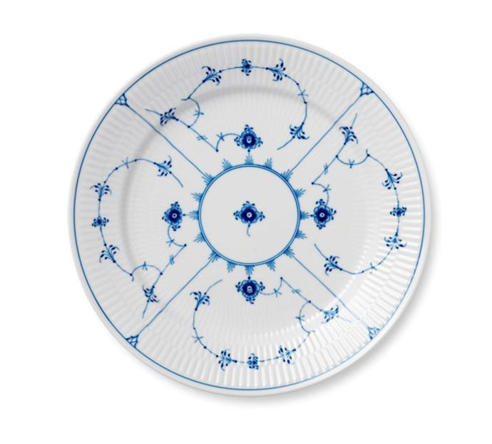 "**Theme Your Table Setting**<br><br>  Blue Fluted Plain porcelain plate 27cm by Royal Copenhagen, $149 by [Royal Copenhagen](https://www.royalcopenhagen.com.au/blue-fluted-plain-plate-27cm.html|target=""_blank""