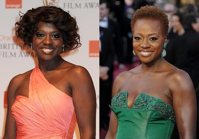 "***Viola Davis***<br><br> Actress Viola Davis made ripples around the world when she chose to forgo a wig and wear her natural hair on the red carpet at the 2012 Oscars. ""My husband wanted me to take the wig off. He said, 'If you want to wear it for your career, that's fine, but in your life wear your hair. Step into who you are!' It's a powerful statement,"" she told *[InStyle](http://news.instyle.com/2012/02/24/viola-davis-hair-natural-wig/