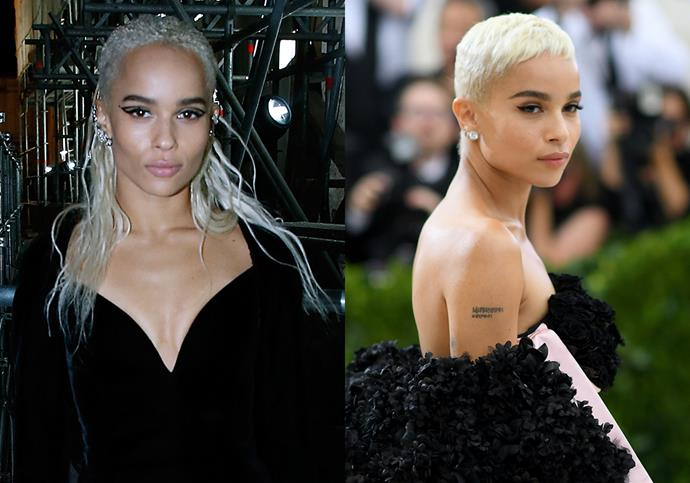 ***Zoë Kravitz***<br><br> Just when her platinum braids were starting to become 'her look,' Zoë Kravitz switched things up and opted for a close-cut pixie in 2017 which prompted thousands of copycats worldwide.