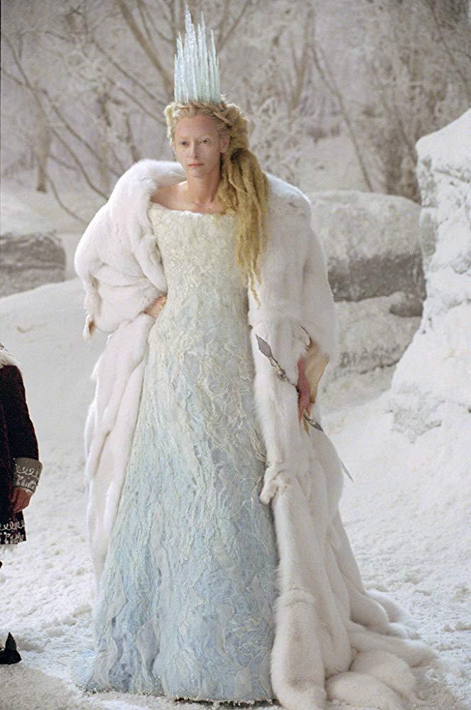 Tilda Swinton as the White Witch in *The Chronicles of Narnia: The Lion, the Witch and the Wardrobe*.<br><br>  *Image via IMDb*