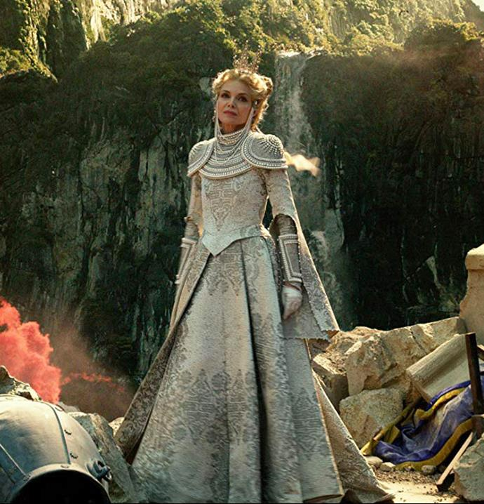 Michelle Pfeiffer as Queen Ingrith in *Maleficent: Mistress of Evil*.<br><br>  *Image via IMDb*