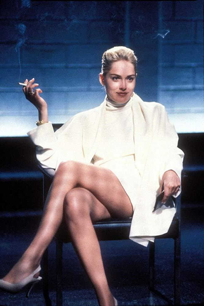 Sharon Stone as Catherine Tramell in *Basic Instinct*.<br><br>  *Image via IMDb*