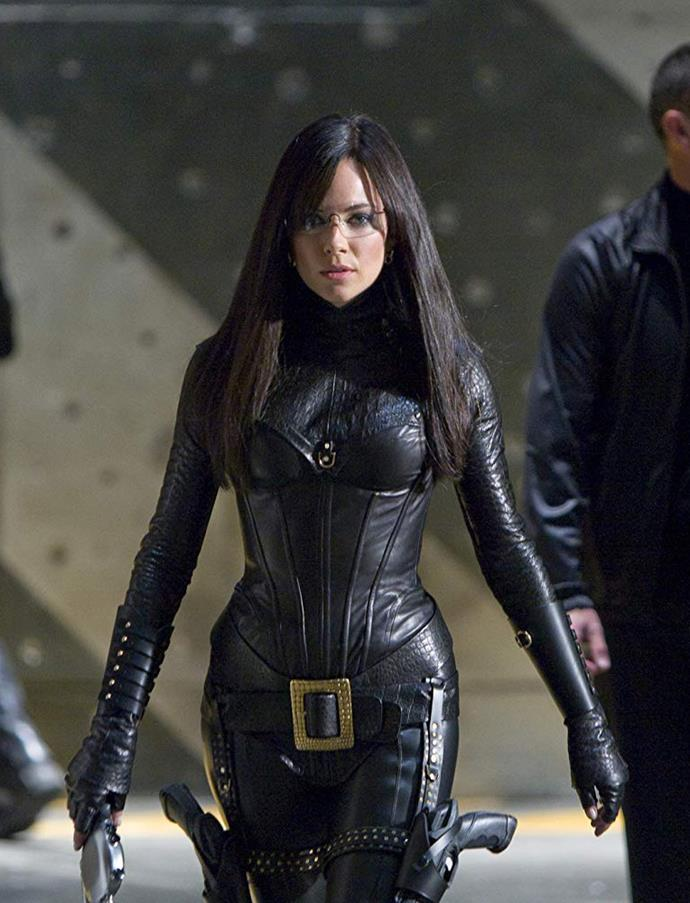 Sienna Miller as the Baroness in *G.I. Joe: The Rise of Cobra*.<br><br>  *Image via IMDb*