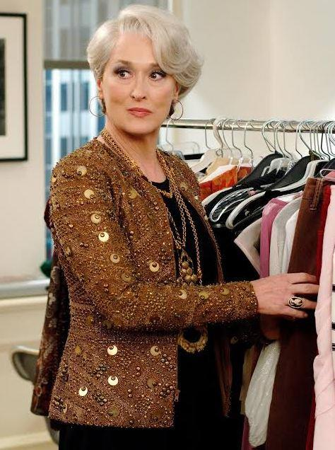Meryl Streep as Miranda Priestly in *The Devil Wears Prada*.<br><br>  *Image via IMDb*