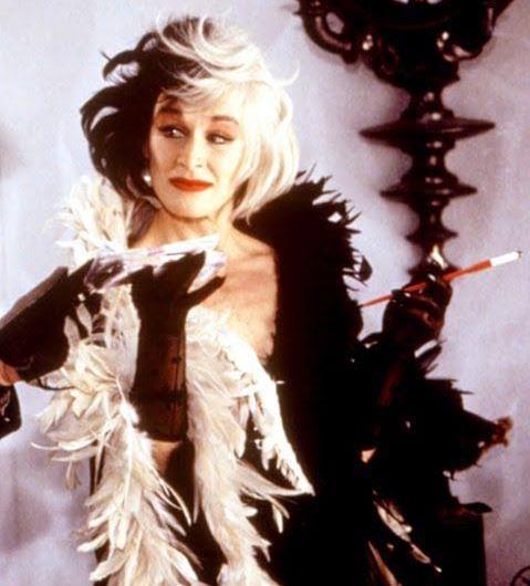 Glenn Close as Cruella de Vil from *101 Dalmatians*.