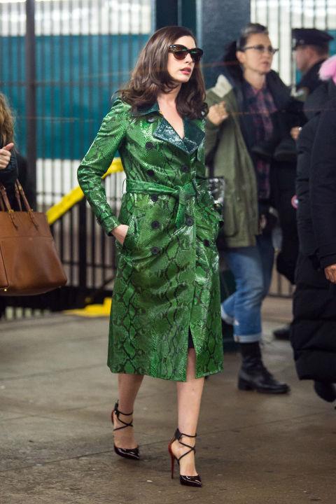Anne Hathaway as Daphne Kluger in *Ocean's 8*.<br><br>  *Image via IMDb*