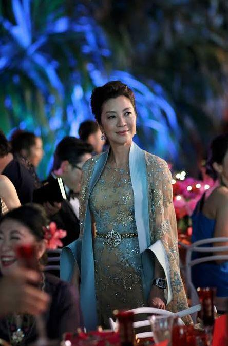 Michelle Yeoh as Eleanor Young in *Crazy Rich Asians*.<br><br>  *Image via IMDb*