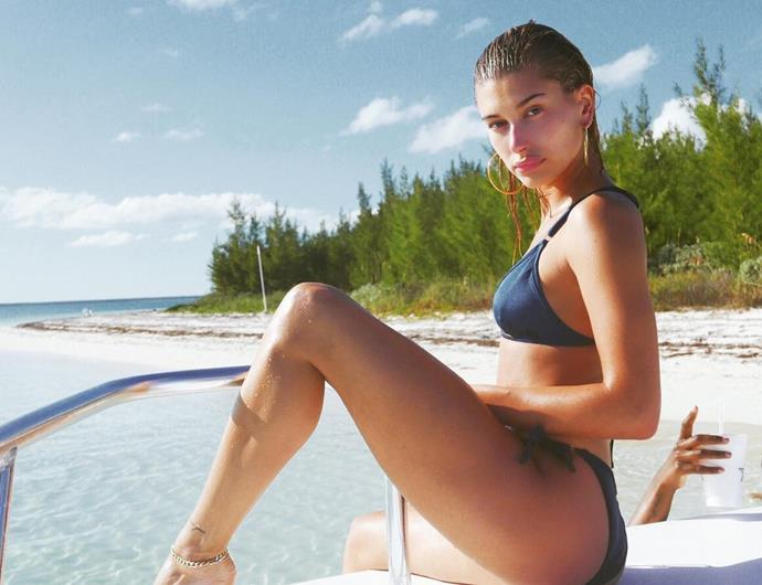 """**DIET: The occasional cleanse**<br><br>  Although she doesn't do it often, Baldwin has [spoken openly](https://people.com/style/hailey-baldwin-fashion-week-detox/ target=""""_blank"""" rel=""""nofollow"""") about doing the odd cleanse, usually before big events like fashion week, to help her """"reset"""" before getting """"into the craziness of all this travel and running around"""".<br><br>  """"Right now I'm on this 10-day metabolic cleanse where I have to drink a protein shake a few times a day and then have a super-strict diet,"""" she told [*Byrdie*](https://www.byrdie.com/hailey-baldwin-interview target=""""_blank"""" rel=""""nofollow"""") in July 2018. """"I obviously don't do that every day.""""<br><br>"""