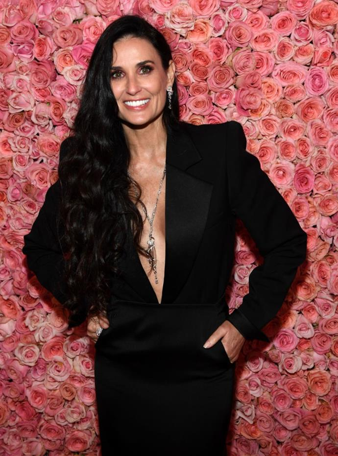 "**Demi Moore** <br><br> In a 2019 interview on *The Ellen Show*, Demi Moore shot down a suggestion from Ellen DeGeneres that she sign up to elite dating service Raya. The *Ghost* actress proclaimed that despite the allure of online dating, she's ""single by choice,"" after high-profile marriages to actors Bruce Willis and Ashton Kutcher. <br><br> *Image: Getty*"