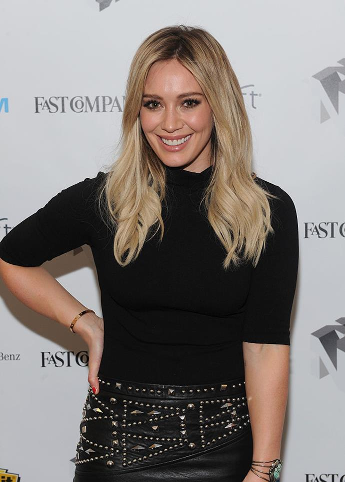 "**Hilary Duff** <br><br> Actress Hilary Duff admitted that she went on one Tinder date in 2015 following her split from her ex-husband, Mike Comrie. On U.S. radio show *Valentine in the Mornin*g, Duff called the app ""wildly addicting"" and said: ""I have always met people through work and I have never been on a blind date. [I thought to myself], what's the worst that could happen?"" <br><br> *Image: Getty*"