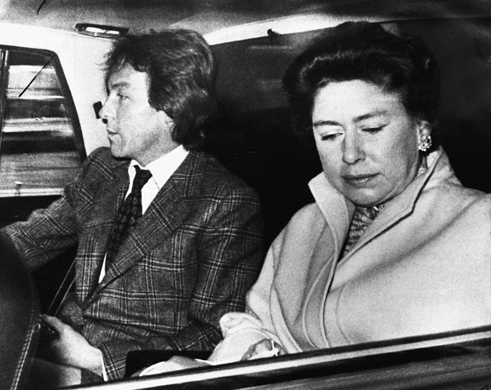 Roddy Llewellyn and Princess Margaret, photographed together in the late 1970s.