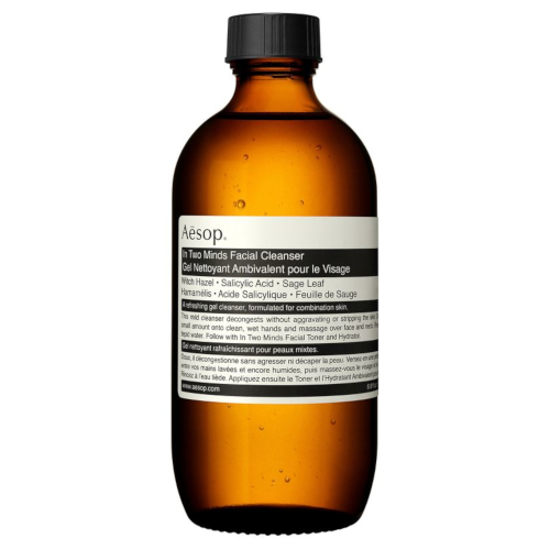 """***In Two Minds Facial Cleaner by Aesop, $53 from [Adore Beauty](https://www.adorebeauty.com.au/aesop/aesop-in-two-minds-facial-cleanser-200ml.html