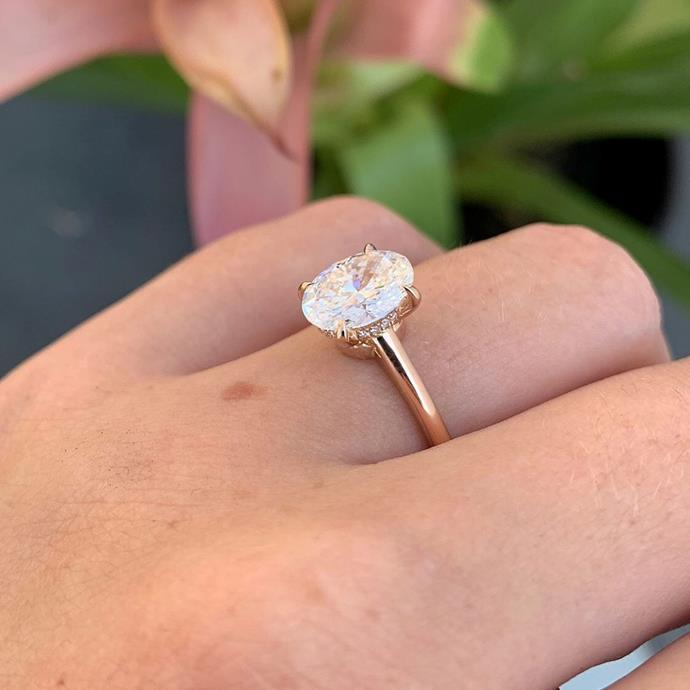 "***Hidden halos***<br><br> After Hailey Bieber [posted an extreme-closeup](https://www.harpersbazaar.com.au/bazaar-bride/hailey-bieber-wedding-ring-19380|target=""_blank""
