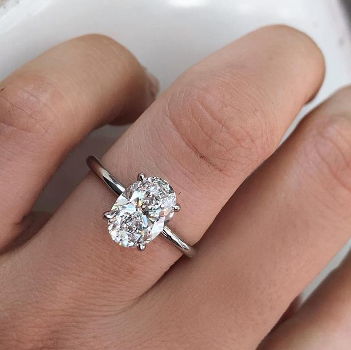 "***Oval-cut***<br><br> If celebrity inspiration is your thing, oval-cuts will be on your radar. After a slew of star proposals, this traditional cut has cemented its position as [the most popular style in Hollywood](https://www.harpersbazaar.com.au/bazaar-bride/celebrity-oval-engagement-rings-19183|target=""_blank"").<br><br> ""Oval diamonds are an elegant choice for brides who want something unique and contemporary for their engagement ring. As one of the most popular styles of 2019, this shape will continue to be a favourite, as it suits most hand shapes.""<br><br> Image via [@louisejeanjewellery](https://www.instagram.com/p/Bu-N5Yhg5Fz/