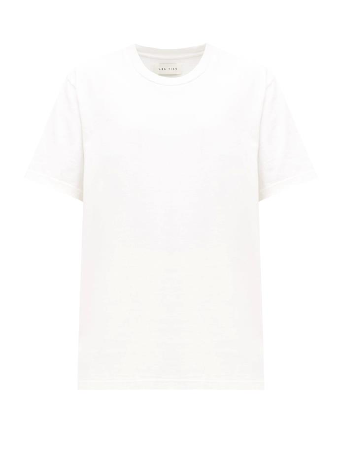 "***The buy-on-repeat white tee***<br><br>  Heavyweight cotton jersey T-shirt by Les Tien, $172 from [MATCHESFASHION.COM](https://www.matchesfashion.com/au/products/Les-Tien-Heavyweight-cotton-jersey-T-shirt--1315343|target=""_blank""