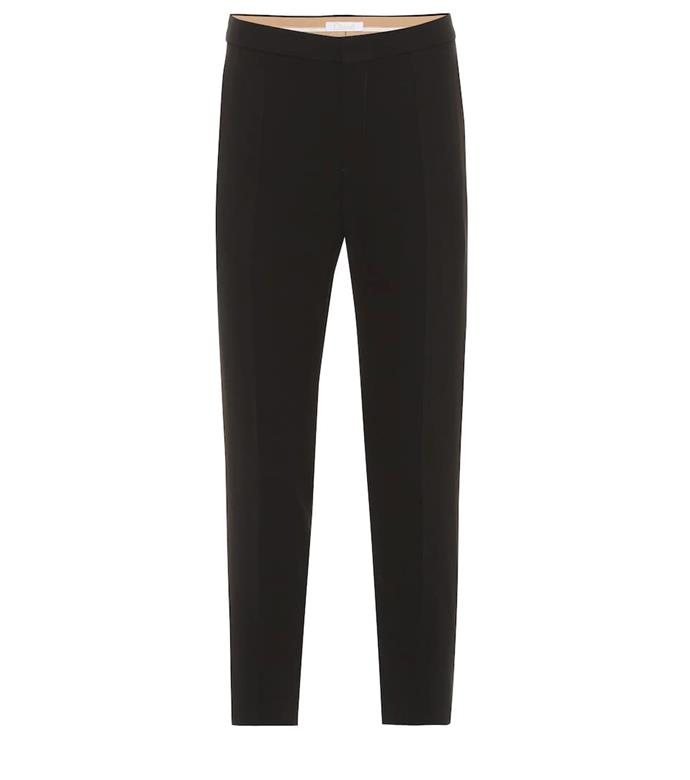 "***A black cigarette pant***<br><br>  Crêpe cigarette pants by Chloé, $855 from [My Theresa](https://www.mytheresa.com/en-au/chloe-crepe-cigarette-pants-1226683.html|target=""_blank""