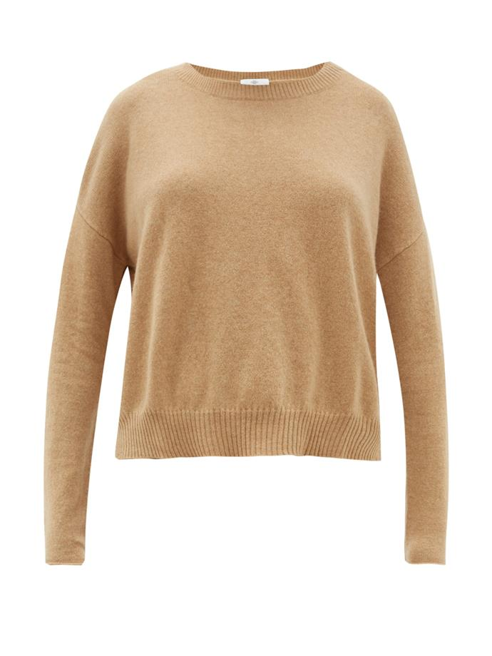 "***A neutral cashmere jumper***<bR><br>  Boat-neck cashmere sweater, $477 from [MATCHESFASHION.COM](https://www.matchesfashion.com/au/products/Allude-Boat-neck-cashmere-sweater-1305822|target=""_blank""
