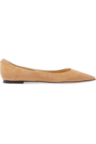 "***A neutral ballet flat***<bR><br>  'Love' sueded point-toe flats by Jimmy Choo, $775 from [NET-A-PORTER](https://www.net-a-porter.com/au/en/product/1200837/Jimmy_Choo/love-suede-point-toe-flats|target=""_blank""
