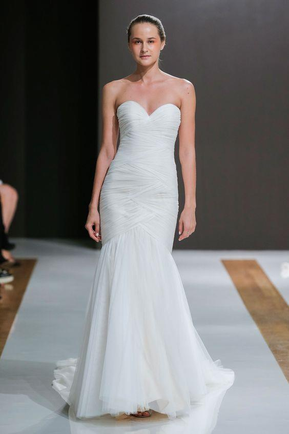 Ruched wedding dress from Mark Zunino's Spring 2018 Atelier Bridal collection, no longer available.