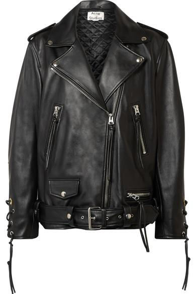 "***A black motorcycle jacket***<br><br>  Lastrid oversized lace-up leather biker jacket by Acne Studios, $3,699.99 from [NET-A-PORTER](https://www.net-a-porter.com/au/en/product/1161794/Acne_Studios/lastrid-oversized-lace-up-leather-biker-jacket|target=""_blank""