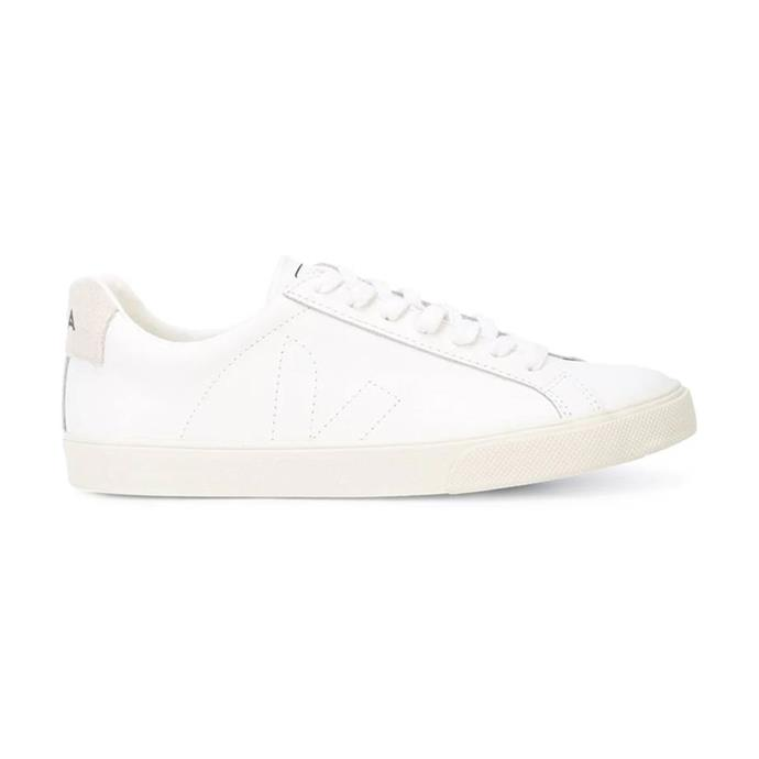 "***A pair of classic white sneakers***<br><br>  Esplar Unisex sneaker by VEJA, $155 from [THE ICONIC](https://www.theiconic.com.au/esplar-unisex-495116.html|target=""_blank""
