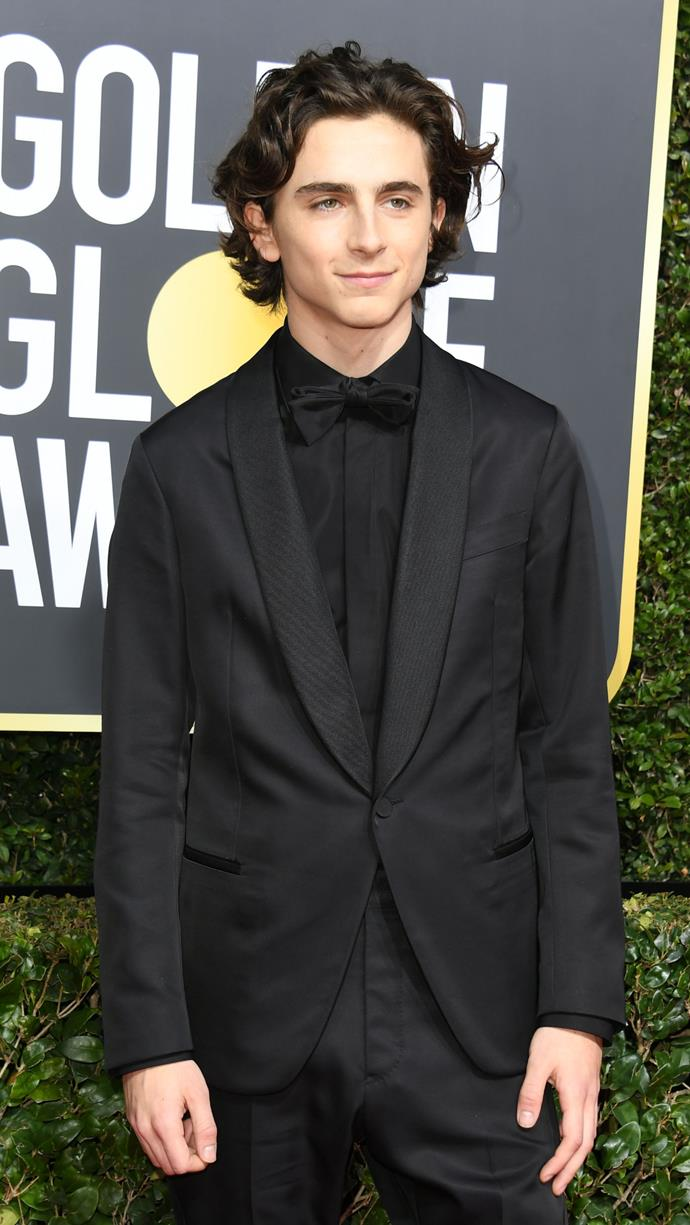 His love for Berluti is bordering on obsession at this point. At the the 75th Golden Globe Awards on January 7, 2018.