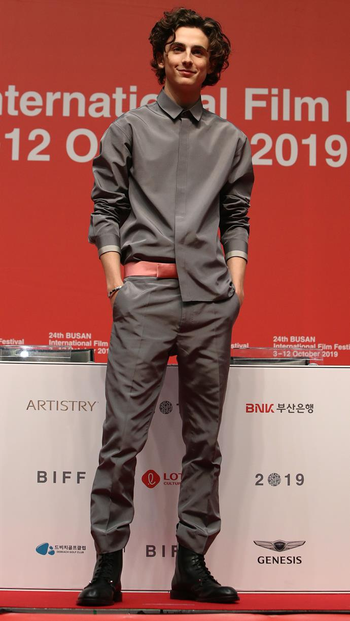 Haider Ackermann, again, in South Korea at the 24th Busan International Film Festival on October 8, 2019.