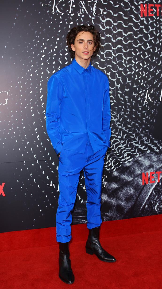 Haider Ackermann at the Sydney premiere of *The King* on October 10, 2019.