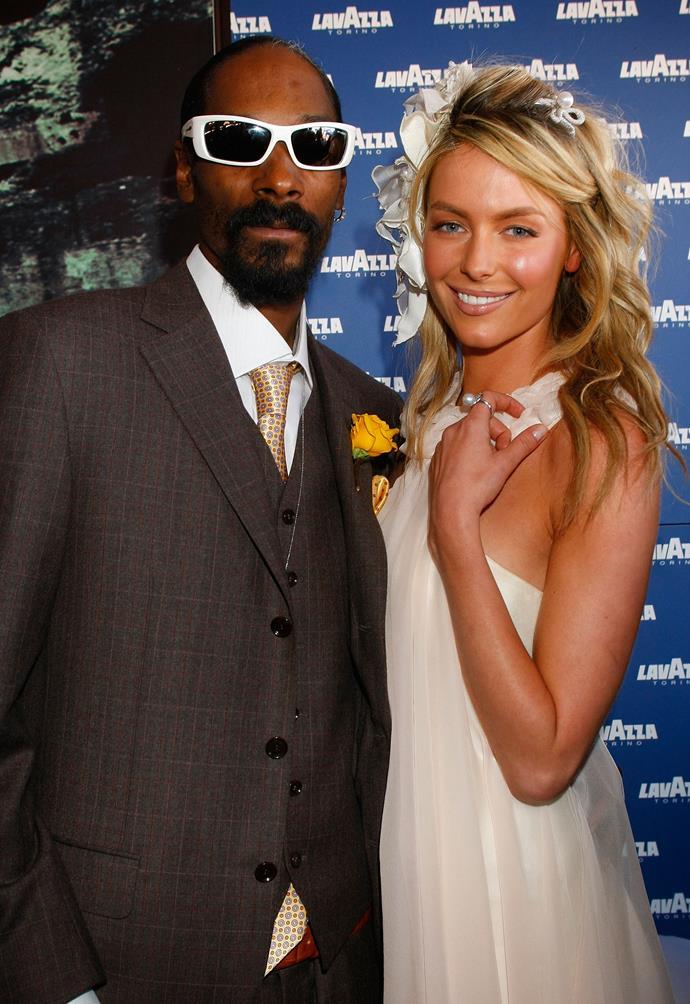 Snoop Dogg and Jennifer Hawkins in 2008.
