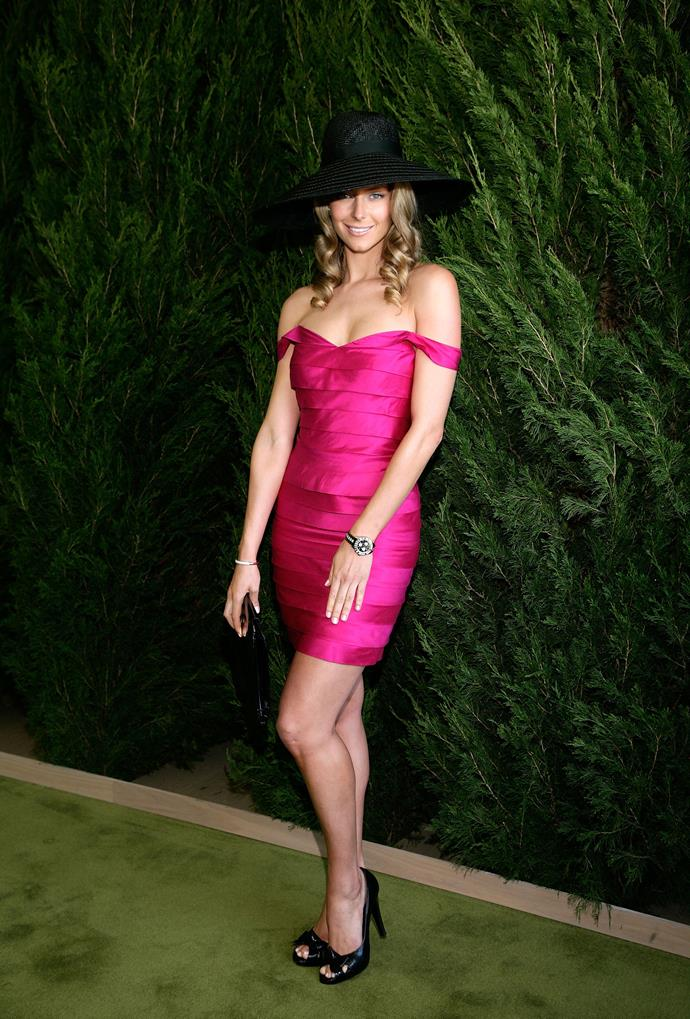 Jennifer Hawkins at the 2007 Melbourne Cup.