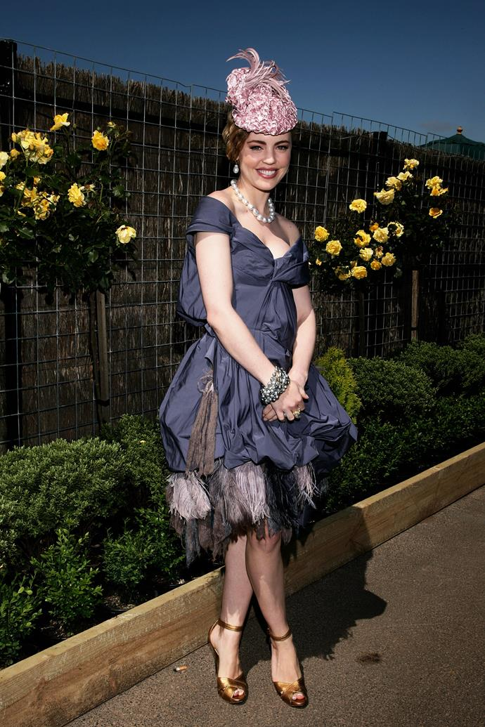 Melissa George at the Melbourne Cup in 2007.