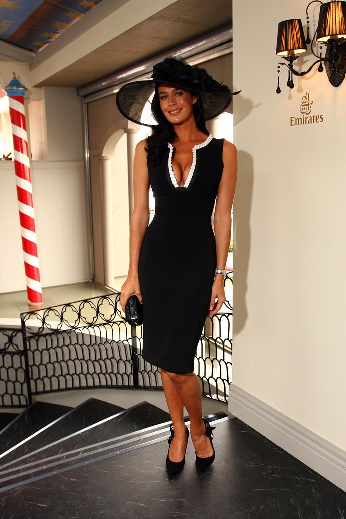 Megan Gale at Derby Day in 2007.