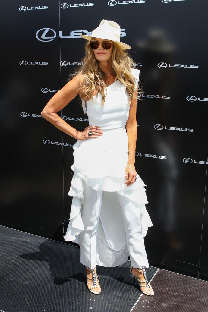 Elle Macpherson at Derby Day in 2018.