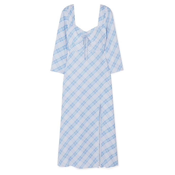 "***Dress code: Casual***<br><Br> Dress by Rixo, $416 at [NET-A-PORTER](https://www.net-a-porter.com/au/en/product/1162244/rixo/giselle-checked-crepe-de-chine-dress|target=""_blank""