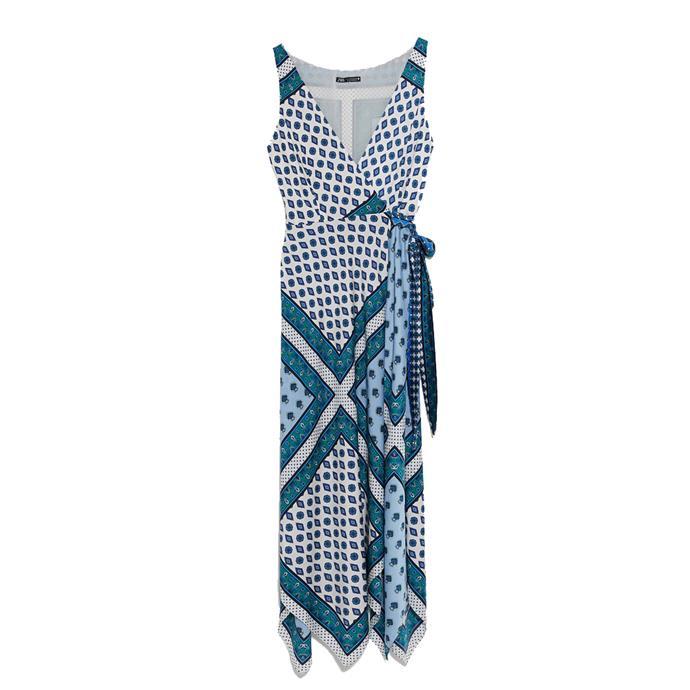 "***Dress code: Casual***<br><Br> Dress, $99 at [ZARA](https://www.zara.com/au/en/printed-dress-p03524641.html?v1=27648306&v2=1277469|target=""_blank""|rel=""nofollow"")."