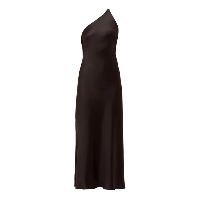"***Dress code: Black tie***<br><Br> Dress by Galvan, $2,162 at [MATCHESFASHION.COM](https://www.matchesfashion.com/products/Galvan-Roxy-asymmetric-silk-satin-dress-1293564|target=""_blank""