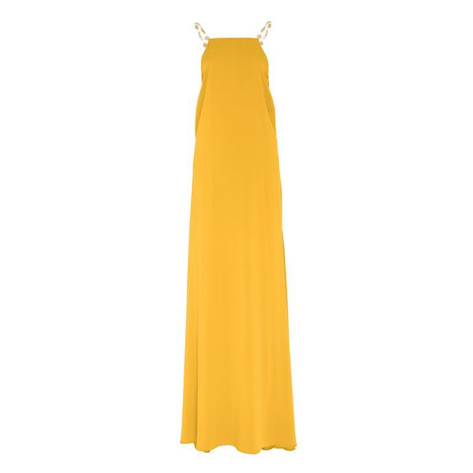 "***Dress code: Black tie***<br><Br> Dress by Cult Gaia, $1,940 at [Moda Operandi](https://www.modaoperandi.com/cult-gaia-pf19/claire-embellished-silk-maxi-dress|target=""_blank""|rel=""nofollow"")."