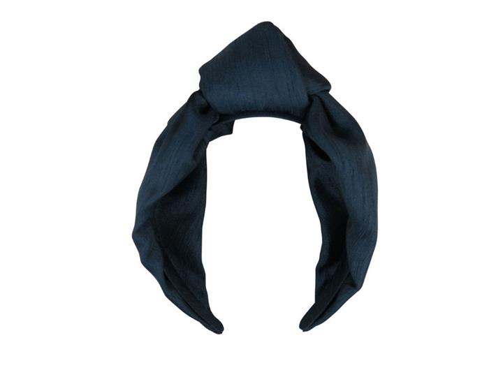 "Headband by Morgan & Taylor, $59.95 at [MYER](https://www.myer.com.au/p/morgan-taylor-fs212-shantung-knot-turban-on-headband-619290730-619265260-1|target=""_blank""