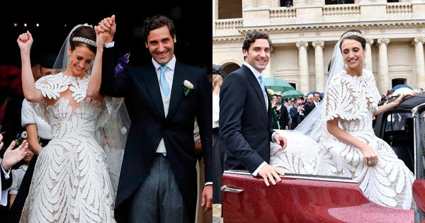 Prince Napoléon Marries Countess Olympia In Lavish Royal Wedding | Harper's BAZAAR Australia