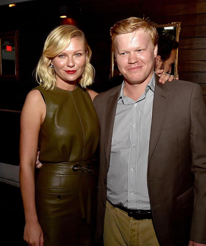 **Kirsten Dunst and Jesse Plemons** <br><br> Dunst met her partner, actor Jesse Plemons, on the set of the TV series *Fargo*, and they officially began dating in 2016.