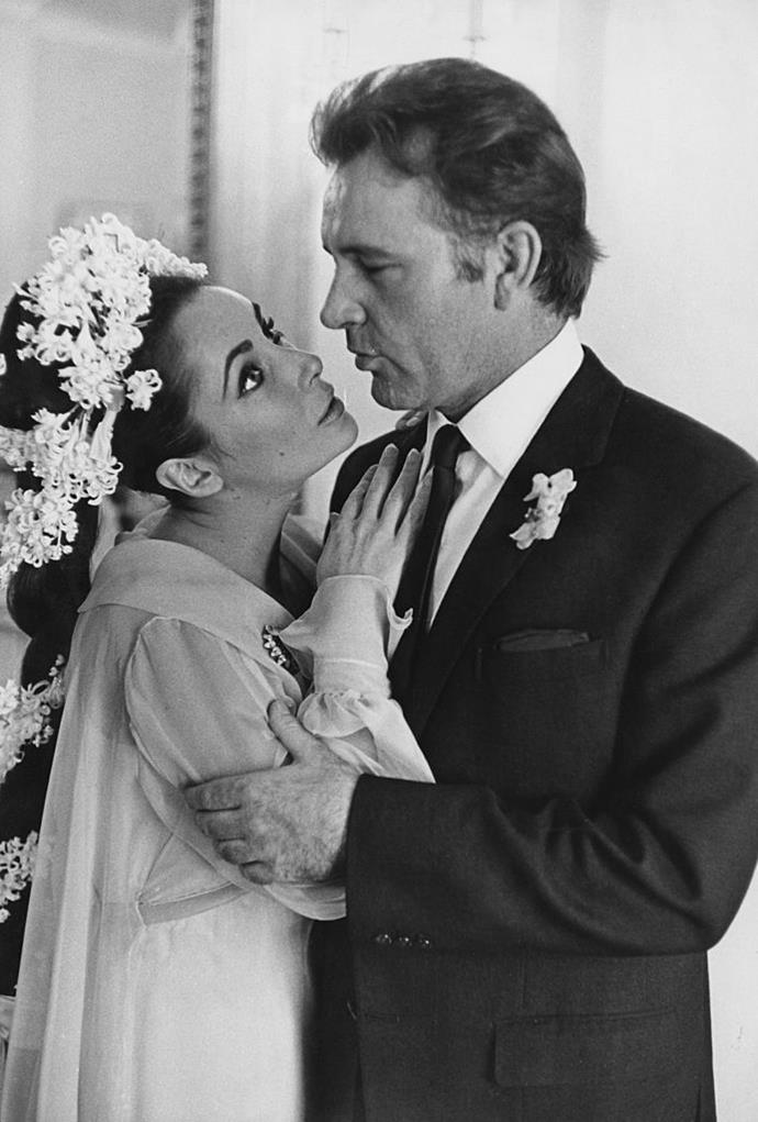**Elizabeth Taylor and Richard Burton** <br><br> Perhaps the most iconic Hollywood power couple, Taylor and Burton met on the set of the 1963 film *Cleopatra* (while Burton was still married), and wed a year later. They ended up divorcing in 1975, then remarried the same year, before finally ending things in 1976.