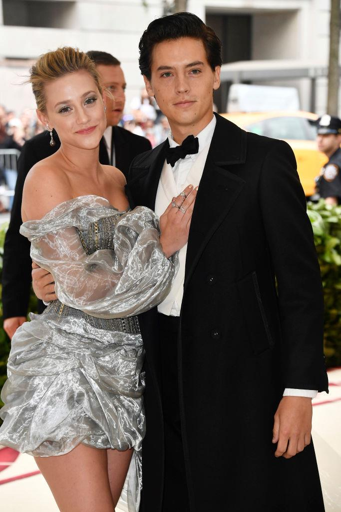**Lili Reinhart and Cole Sprouse** <br><br> Reinhart and Sprouse met on the set of the popular teen drama series *Riverdale*, and began dating in early 2017 (even though some thought the couple had ended their relationship in mid-2019).