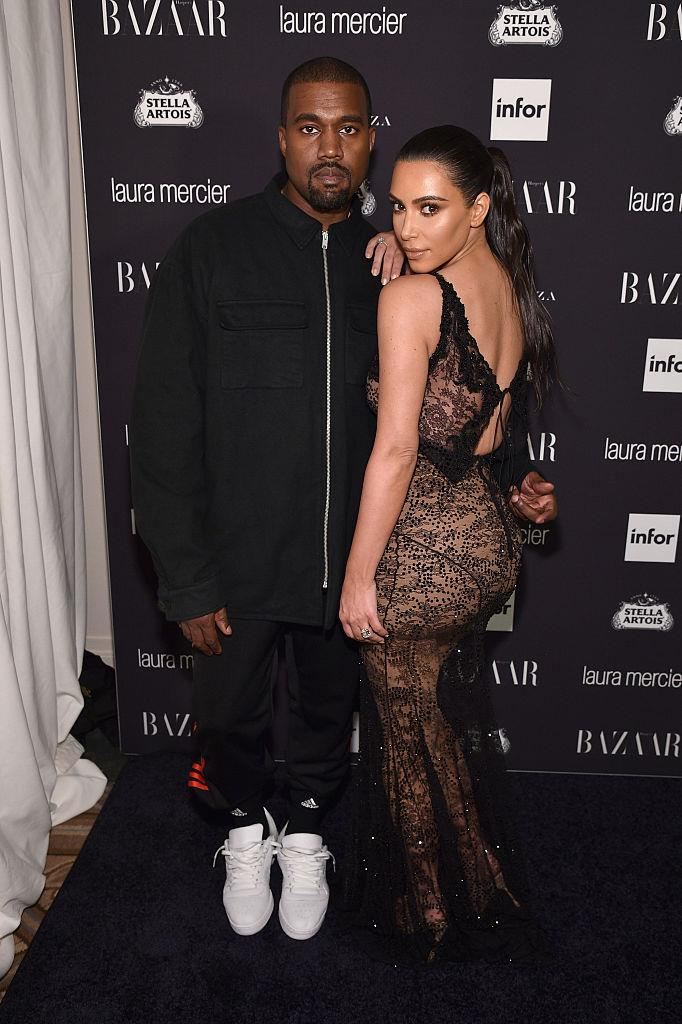 """**Kim Kardashian and Kanye West** <br><br> Like Jennifer Lopez and Cris Judd, few people know that one of the first times Kim Kardashian and Kanye West met was on a music video set in the early 2000s. Kardashian told Ryan Seacrest in 2017: """"I met [Kanye] I think in 2002 or 2003. He was recording a song with Brandy, and I was her friend. I vividly remember hanging out with him, and then they did a video together, so I'd seen him a few times."""""""