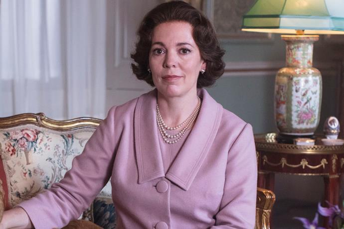 Olivia Colman as Queen Elizabeth II in *The Crown* season three.