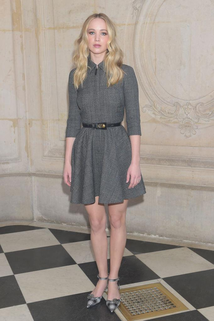 Jennifer Lawrence at Dior autumn/winter '19 in Paris on February 26, 2019.