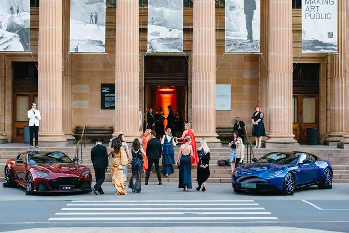 Guests enter the event at the Art Gallery of New South Wales.