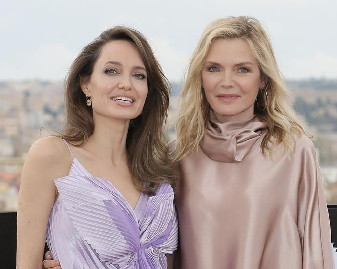 Promoting *Maleficent: Mistress of Evil* with Angelina Jolie in October 2019