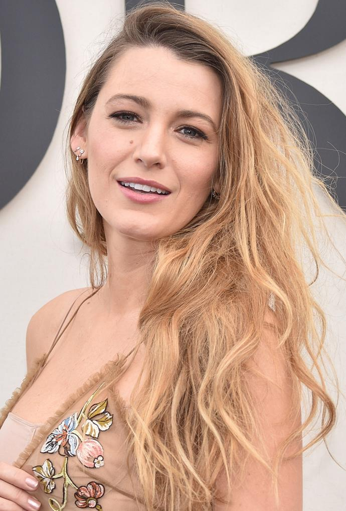 **Blake Lively**<br> Blake Lively is hard to beat in the hair stakes with any shade, but this copper tinged honey is a serious standout.