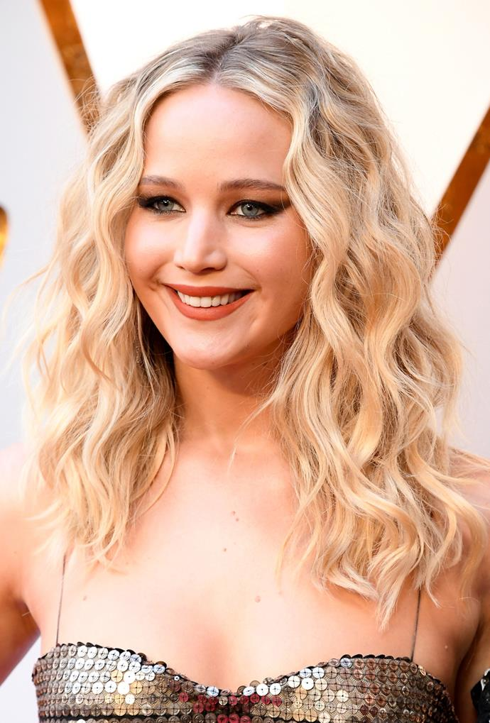 **Jennifer Lawrence**<br> If you ever need a lesson in how to pull off buttery bronde curls, just look to Jennifer Lawrence.